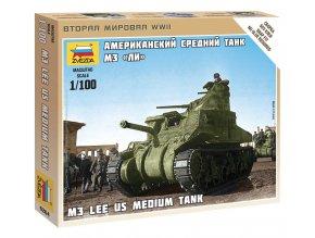 Zvezda - americký střední tank M3 Lee, 1/100, Wargames (WWII) 6264