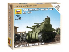 Zvezda - M3 Lee, Wargames (WWII) 6264, 1/100