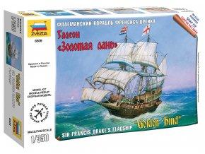 Zvezda - Golden Hind, Sir Francis Drake, Wargames (TS) 6509, 1/350