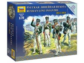 Zvezda - figurky ruská řadová pěchota, Napoleonské války, Wargames 6808, 1/72