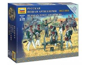 Zvezda - figurky ruští dělostřelci, Napoleonské války, Wargames 6809, 1/72