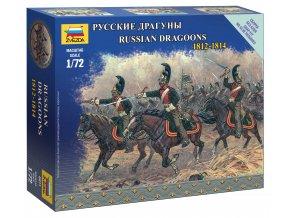 Zvezda - figurky ruští dragouni, Napoleonské války, Wargames 6811, 1/72