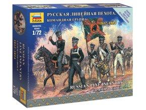 Zvezda - figurky ruské frontové velení, Napoleonské války, Wargames 6815, 1/72