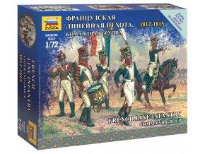 Zvezda - figurky francouzské frontové velení, Napoleonské války, Wargames 6816, 1/72