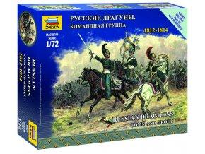 Zvezda - figurky ruské velení dragounů, Napoleonské války, Wargames 6817, 1/72