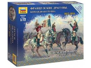 Zvezda - figurky francouzské velení dragounů, Napoleonské války, 1/72, Wargames 6818