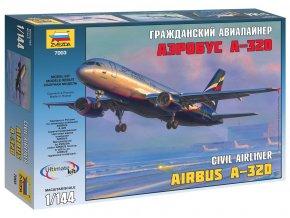 Zvezda - Airbus A-320, Model Kit 7003, 1/144
