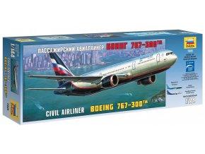 Zvezda - Boeing B767-300, 1/144, Model Kit 7005