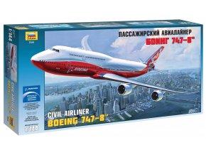 Zvezda - Boeing B747-8, Model Kit 7010, 1/144