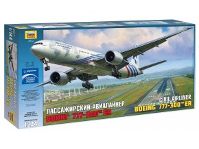 Zvezda - Boeing B777-300ER, 1/144, Model Kit 7012