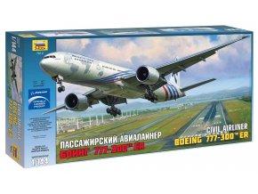 Zvezda - Boeing B777-300ER, Model Kit 7012, 1/144