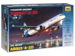 Zvezda - Airbus A-321, Model Kit 7017, 1/144