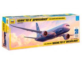 Zvezda - Boeing B787-9 Dreamliner, 1/144, Model Kit 7021