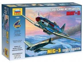Zvezda - Mikojan-Gurevič MiG-3, Model Kit 7204, 1/72