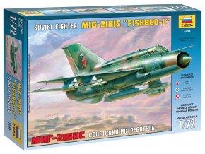 """Zvezda - Mikojan-Gurevič MiG-21 bis """"Fishbed"""", Model Kit 7259, 1/72"""