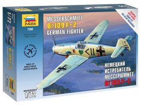 Zvezda - Messerschmitt B-109 F2, Luftwaffe, Snap Kit 7302, 1/72