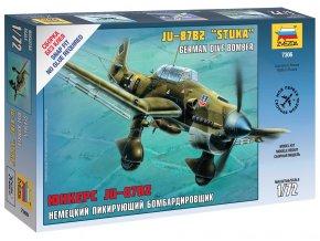 Zvezda - Junkers Ju-87 B2 Stuka, Snap Kit 7306, 1/72