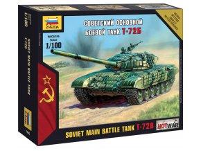 Zvezda - T-72, Wargames (HW) 7400, 1/100