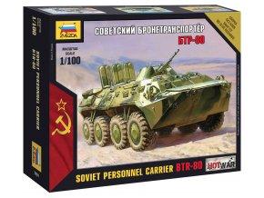 Zvezda - obojživelné obrněné vozidlo BTR-80, Wargames (HW) 7401, 1/100