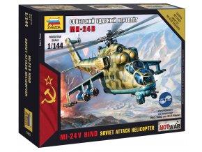 """Zvezda - Mil Mi-24 VP """"Hind"""", Wargames (HW) 7403, 1/144"""