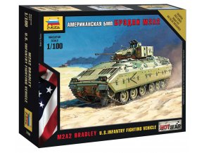 Zvezda - bojové vozidlo pěchoty M2 Bradley, 1/100, Wargames (HW) 7406