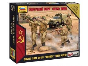 Zvezda - figurky sovětský protiletadlový komplet 9K32 Strela-2 s obsluhou, Wargames (HW) 7412, 1/72