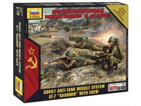 """Zvezda - figurky  sovětská protitanková řízená střela 9K115 Metis /AT-7 """"Saxhorn""""/ s posádkou, Wargames (HW) 7413, 1/72"""