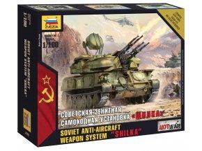 "Zvezda - protiletadlový systém ZSU-23-4 ""Shilka"", Wargames (HW) 7419, 1/100"