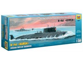Zvezda - ruská jaderná ponorka K-141 Kursk, Model Kit 9007, 1/350
