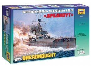 Zvezda - britská bitevní loď H.M.S. Dreadnought, 1/350, Model Kit 9039