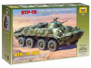 Zvezda - obojživelné obrněné vozidlo BTR-70, Model Kit 3557, 1/35