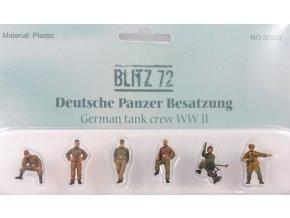 Blitz 72 - set figur osádka tanku Wehrmacht, Normandie, 1/72