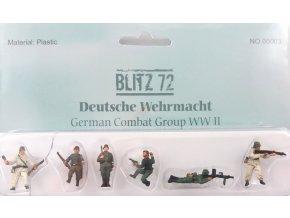 Blitz 72 - set figur Wehrmacht, útok, 1/72