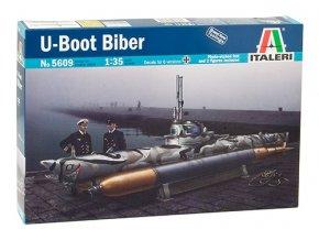 Italeri -  jednomístné plavidlo Biber - U-Boot, 1/35, Model Kit 5609