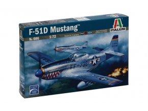 Italeri - North American F-51D Mustang, Model Kit 0086, 1/72