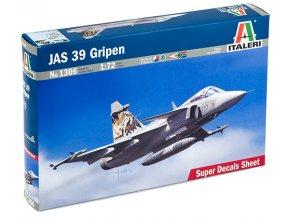 Italeri - Saab JAS-39 Gripen, Model Kit 1306, 1/72