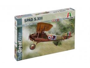 Italeri - francouzský stíhací dvouplošník SPAD S.XIII, Model Kit 1366, 1/72