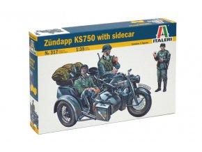 Italeri - Zündapp KS750, Model Kit 0317, 1/35