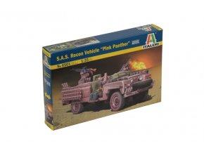 """Italeri - průzkumné vozidlo jednotek S.A.S. """"Pink Panther"""", Model Kit 6501, 1/35"""