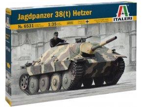 """Italeri - Sd.Kfz.138/2 Jagdpanzer 38 (t) """"Hetzer"""", Model Kit 6531, 1/35"""