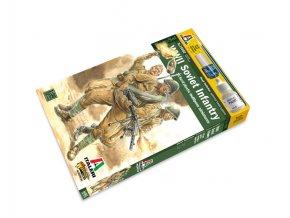 Italeri - figurky sovětská  pěchota, 2. světová válka, Wargames 15602, 1/56
