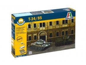 Italeri - T-34/85, sovětská armáda, Fast Assembly 7515, 1/72