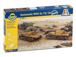 Italeri - italské samohybné dělo Semovente 75/18 (M13/40), 1/72, Fast Assembly 7519