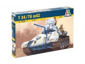 Italeri - T-34/76 Mod.1942, Model Kit 7008, 1/72