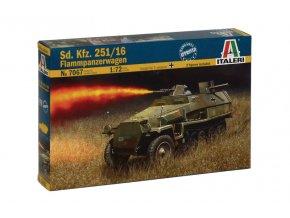 Italeri - Sd.Kfz.251/16 ''Hakl'', plamenometná verze, Model Kit 7067, 1/72