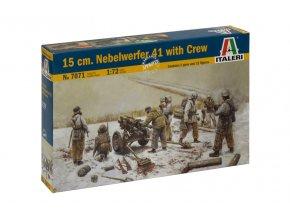 Italeri - Nebelwerfer 41 (15-cm Nb. W. 41) 150 mm s posádkou, Model Kit 7071, 1/72