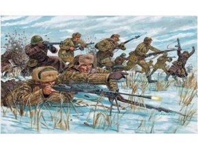 Italeri - figurky sovětská pěchota, zimní uniformy, 2.světová válka, Model Kit 6069, 1/72
