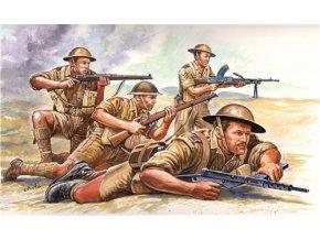 Italeri - figurky britská pěchota, 8.Armáda, Afrika, 2.světová válka, Model Kit 6077, 1/72