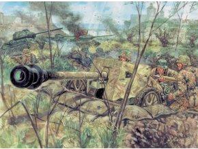 Italeri - protitankové dělo 7,5 cm Pak 40 s posádkou, Model Kit figurky 6096, 1/72