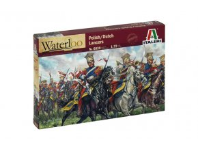 Italeri - POLISH-DUTCH LANCERS (NAP.WARS), Model Kit figurky 6039, 1/72